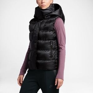 Nike Down Puffer Black Vest Size XS